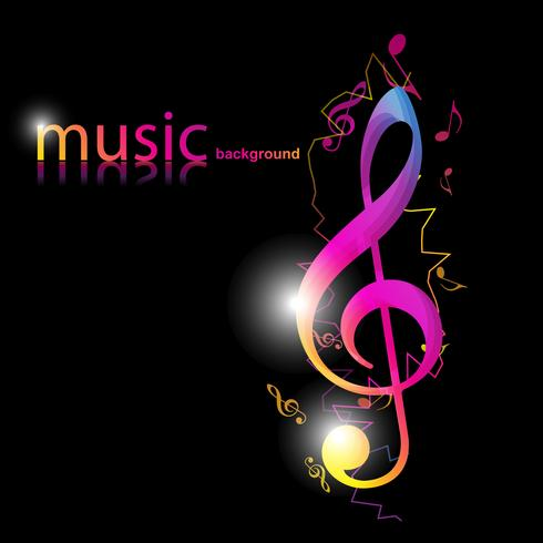 スタイリッシュな音楽デザインパターン素材ダウンロード