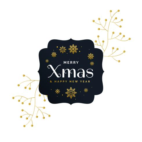 デコとスタイリッシュなプレミアムメリークリスマスグリーティングデザイン素材 イラスト無料ダウンロード