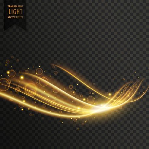 キラキラと透明な黄金の光の効果写真 イラスト素材無料ダウンロード