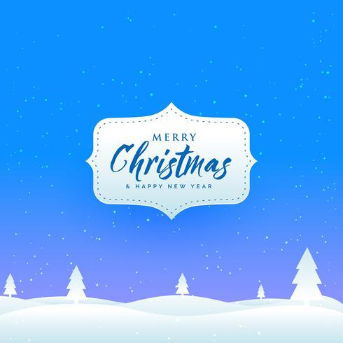 雪と木のクリスマス祭りのための冬の風景無料
